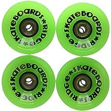 Ridge monopatín ruedas Longboard Verde Grü Talla:extra-large