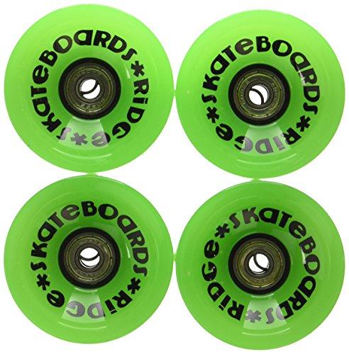 Ridge Skateboards 70mm Longboard Wheels Ruote per Skateboard, Verde