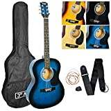 Best Starter Acoustic Guitars - 3rd Avenue STX10ABBPK Acoustic Guitar Pack - Blue Review