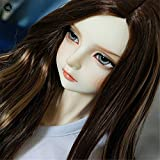 Tita-Doremi BJD Bambola Parrucca Ball-Jointed Doll 1/3 8-9 inch 22-24cm Dollfie Pullip SD Dod DD Brown Mix Toy Head Parrucca Hair (Solo La Parrucca,Non Una Bambola )