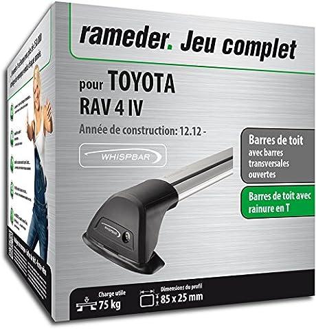 Pack Rameder barres de toit Flush pour TOYOTA RAV 4 IV (120071-10996-6-FR)