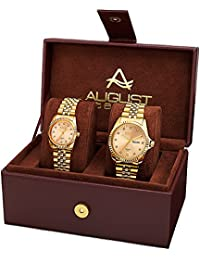 August Steiner Set de 2 relojes AS8201YG