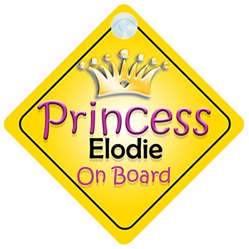 Princesse Valentina on Board Personnalis/é Fille Voiture Panneau pour b/éb/é//enfant cadeau 001