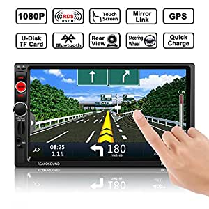 voiture gps navigation ocday autoradio st r o r cepteur mp5 joueur double din 7 pouces hd. Black Bedroom Furniture Sets. Home Design Ideas