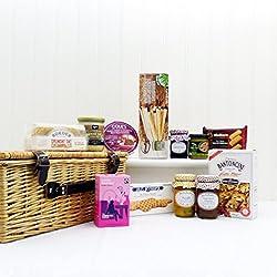 """Gourmet Wicker Gift Cesta de la cesta de alimentos """"Festive favoritos"""" - idea de regalo para cumpleaños, aniversario y felicitaciones presenta Regalo perfecto para el Día de la Madre"""