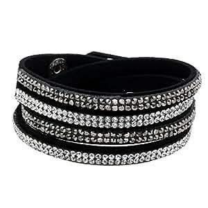 Pendantif Inseparable Amour - C�ur & Clef - Bijoux � Offrir pour Hommes/Femmes - Lot de 2 pendantifs & Cha�nes - Acier argente & faux cristal