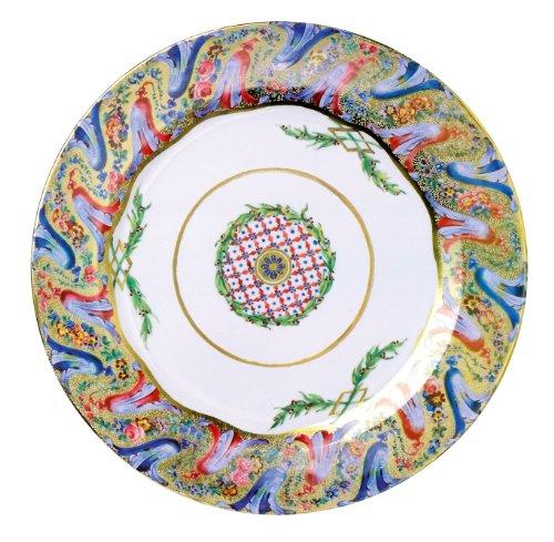 Preisvergleich Produktbild Harebell Boarder Wallace Collection Painted Tin Enamel Plate - Picnic or Camping by Harebell Painted Enamel Plate