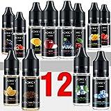 [12x 10ml] AOKEY E Liquide Cigarettes électroniques, 70VG/30PG, 12 Saveurs...