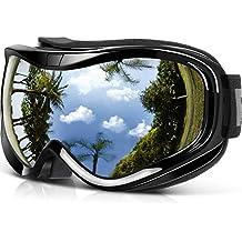 2d9c81a0208fc Findway Gafas de Esquí,Máscara Gafas Esqui Snowboard Nieve Espejo para  Hombre Mujer Adultos Juventud