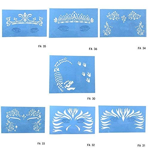 eue weiche wiederverwendbare gesicht malen schablone tattoo template blume gesicht körperfarbe design malerei werkzeug für halloween weihnachten ()