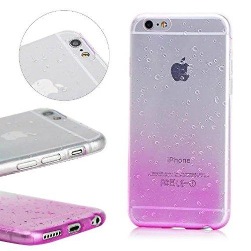 MOMDAD iPhone SE Blanc Coque iPhone 5 5S Transparent Coque iPhone 5 5S SE TPU Silicone Housse iPhone 5 5S SE Souple Case Cover Ultra-Slim avec Fonction Bouchon Anti-poussière pour iPhone 5 5S SE Etui  Raindrop-Purple