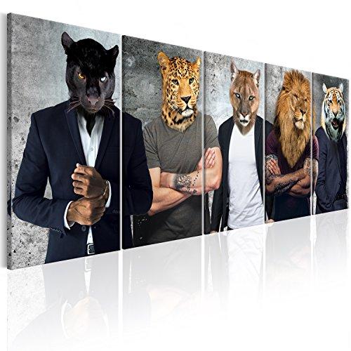 murando - Bilder Abstrakt Tiere 200x80 cm - Leinwandbilder - Fertig Aufgespannt - Vlies Leinwand - 5 Teilig - Wandbilder XXL - Kunstdrucke - Wandbild - Tier h-C-0056-b-m (Abstrakte Bilder)