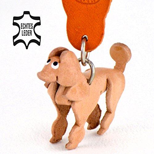 Pudel Paula - Schlüsselanhänger Figur aus Leder in der Kategorie Stofftier / Plüschtier von Monkimau in natur braun - Dein bester Freund. Immer dabei! - 5x2x4cm LxBxH klein, jeweils 1 Stück (Rosa Pudel Rock Kostüme)