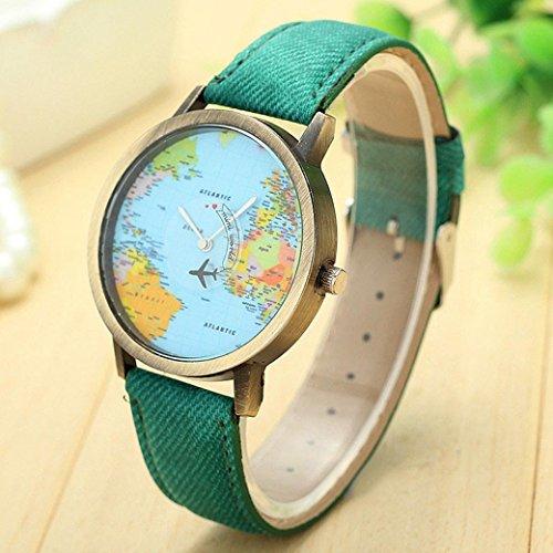 Precioso reloj con mapa del mundo