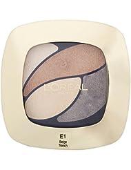 L'Oréal Paris Farbe Riche Eye Shadow Quad - E1 Beige Trench - Packung mit 6