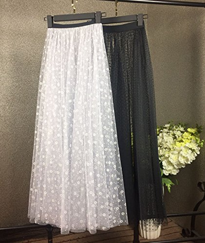 WDDBSQ Tüllrock/Petticoat/Mesh/Party/Bankett/Party/Kleid/Single/Gaze/Big Pendel/Rock/Overdress/Tuffie/Wonder/Long Skirt/Weiblich, Cm80, Verbringen Mesh-overdress