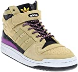 adidas Men's Forum Mid Refined Sand/Black/White F37834 (Size: 10)