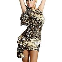 Motony Donna Latin Dance Abito adulti costume danza hip pacchetto abiti senza spalline pratica Performance Wear