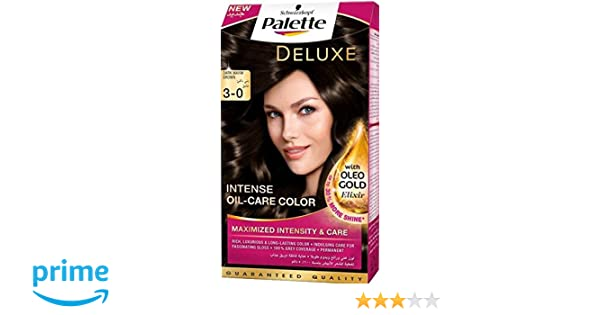 4b619f6904 Buy Henkel Palette Deluxe Intense Oil Care Color, 3-0 Dark Warm Brown, 115ml  Online at Low Prices in India - Amazon.in