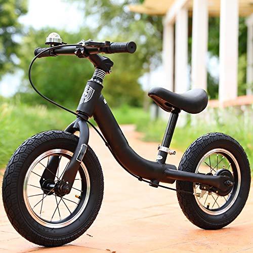 SYRL Kinder Laufrad Lauflernrad Kinderrad für Jungen und Mädchen ab 2-6 Jahre Handbremse | Anti-Shock,Black -