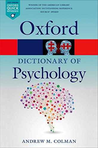 A Dictionary of Psychology (Oxford Quick Reference) por Andrew M. Colman