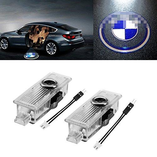 Logo LED tür Auto, FlexDin türprojektoren autotür Logo Projektion LED, türbeleuchtung und Einstiegsbeleuchtung mit Logo für F10 E61 E90 E91 E65 E70 usw - 2 Stück
