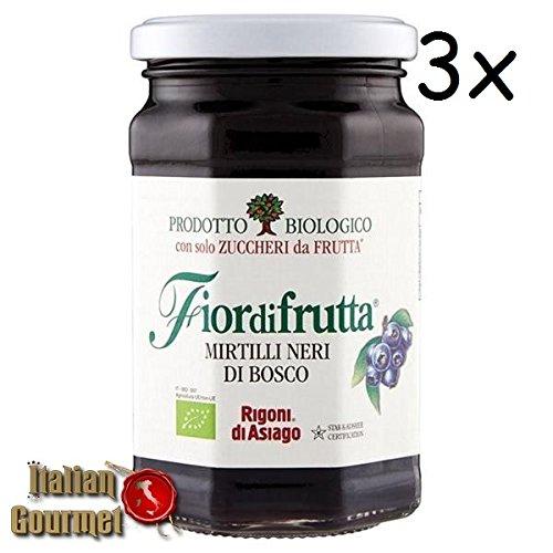 3x Rigoni di Asiago Fiordifrutta Fruchtaufstrich Wild Heidelbeeren BIO 250g