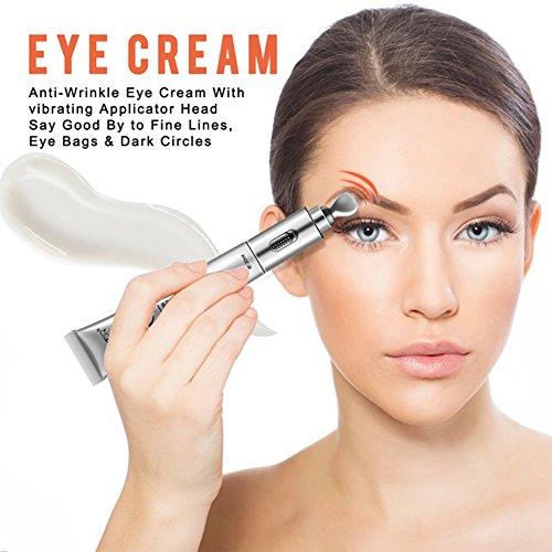 KAYI Eye Sérum Massant Rolling Yeux Crème Anti-Âge 20ML Réduire Les Pieds de Corbeau Absorption Rapide, Yeux Plaisir
