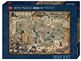 Heye 29847 Pirate World Standart 2000 Teile, Map Art, inkl. Poster