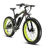 Cyrusher Extrbici XF660 Verde Negro 48V 500 vatios Bicicleta eléctrica para hombre de la bici verde...