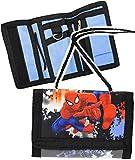 """Geldbörse - """" Spider-Man """" - Geldbeutel & Portemonnaie für Kinder - Geld - Jungen - mit Folie z.B. für Buskarte / Busfahrkarte - Kindergeldtasche - Geldtasche / Brustbeutel - zum Umhängen - Geldtasche Geld - ultimate Spiderman - Kindergeldbörse - Spinne Hero Aktion Held / Amazing - Jungenportemonnaie"""