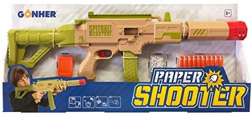 Gonher-950/0 Gonher Paper Shooter, Color Verde/Marron (950/0)