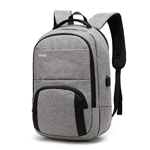 JIAOO Herren Rucksack 15,6 Zoll Business Laptop Taschen moderner Canvas wasserdicht Daypacks,Rucksäcke Geeignet für Campus/Arbeit/Reise/Wandern