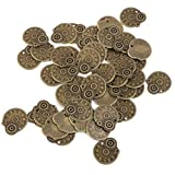 WINOMO 50pcs Bronze Vintage Metal Steampunk Gears Jewelry Making Charms Cog Watch Wheel for Crafting Cosplay