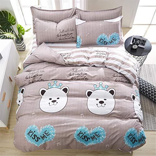 Jwans Bettbezug Bettlaken Leinen Kissenbezüge Set Bettwäsche-Sets Full King Twin Queen Size 3/4 stücke Doppelbett
