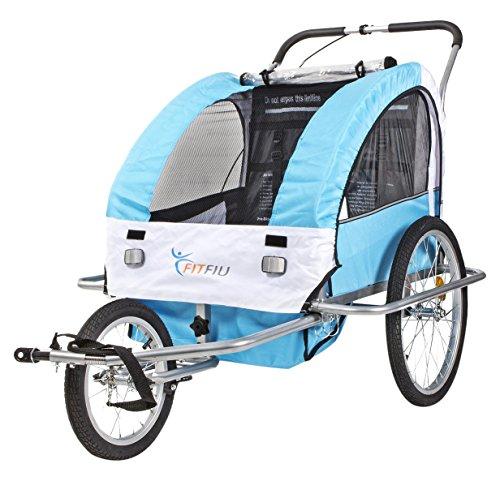 Fitfiu BI-TR-B Remolque de Bicicleta, Unisex niños, Azul, Única