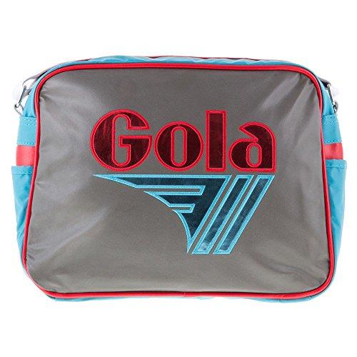 Gola - Redford Mirror Metallic, Portafogli Bambina Charcoal/Rose/Blue