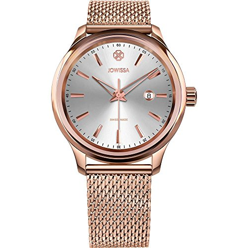 JOWISSA MEN'S TIRO 45MM ROSE GOLD-TONE STEEL BRACELET QUARTZ WATCH J4.218.L
