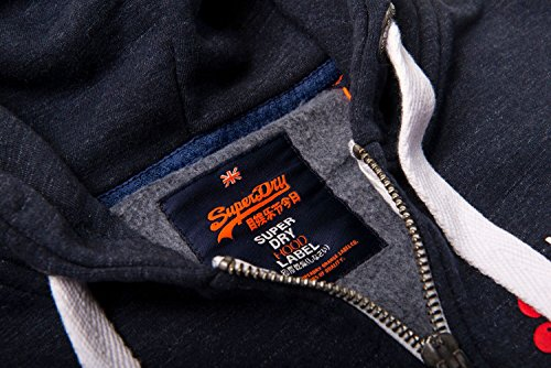 Superdry Herren Zipper PREMIUM GOODS ZIPHOOD Bass Blue Grindle Bass Blue Grindle