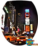 Sticker Autocollant Abattant WC New York 35x42cm réf 317