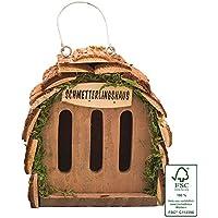 Gardigo 90530 -Hotel delle farfalle per il tuo giardino, Legno naturale, 16 x 15,5 x 10 cm