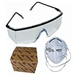 3M 1710-9004IN-P4 Stingrays Safety Goggles and Antipollution Riding Respirator Combo