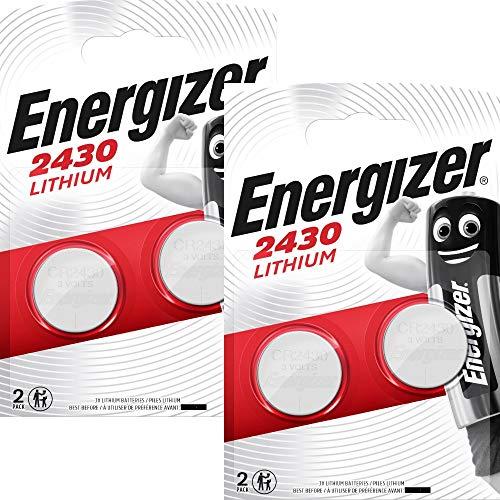 4 X Energizer CR2430 3V Lithium Knopfzelle Batterien