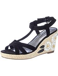 Tamaris Damen 28390 Offene Sandalen mit Keilabsatz