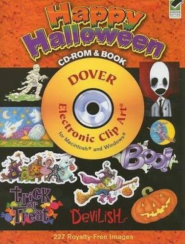 Happy Halloween [With CDROM] (Dover Electronic Clip Art)