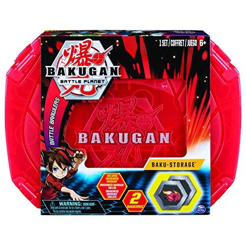 Bakugan 6054796 - Storage Case, rot, Aufbewahrungskoffer mit Pyrus Dragonoid Bakugan