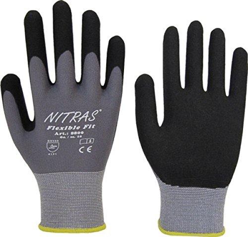 NITRAS 8800 Flexible Fit Allroundhandschuhe Gartenhandschuhe, hohe Abriebfestigkeit, sehr guter Grip - VPE 12 Paar, Größe:10