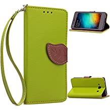 Redmi 2A Funda,+Free Gifts Multifunctional Data Line SongNi® TPU Leather Wallet Funda,Leaf shape Magnetic Closure,Card Slot,Wallet,Stand,Flip leather Funda for Redmi 2A-Green