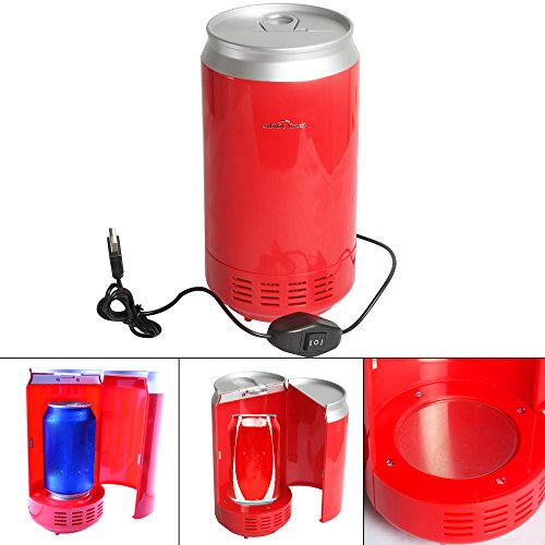 Sidiou Group Portable USB-PC Mini-Kühlschrank Kühlschrank kühles Getränk Getränkedosen Kühler & wärmer PC Gadgets Red