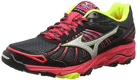 Mizuno Wave Mujin 3, Chaussures de Running Compétition femme - Noir - Black (Dark Shadow/Silver/Diva Pink), 7 UK 40 1/2 EU